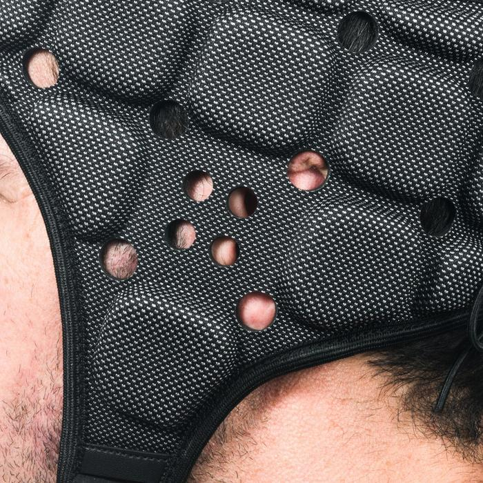 Scrumcap voor rugby volwassenen R900 zwart