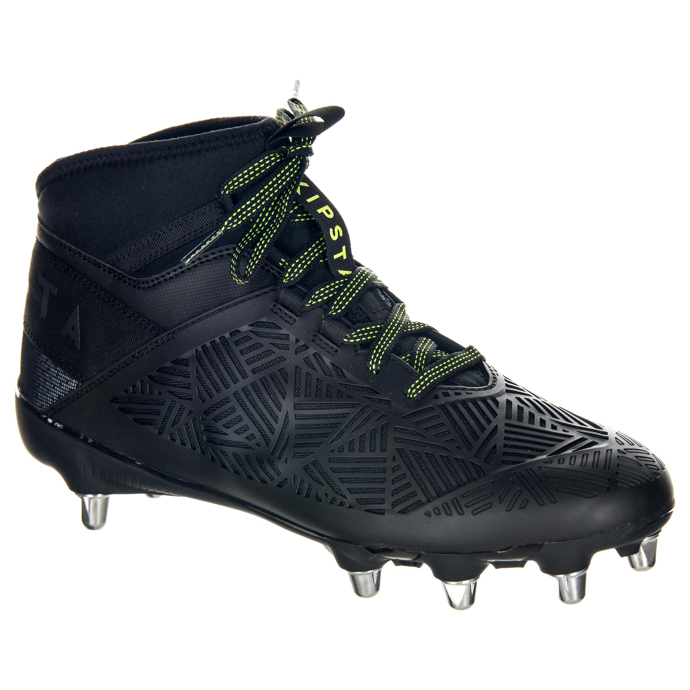 Offload Rugbyschoenen voor volwassenen 8 noppen Density R900 SG zwart