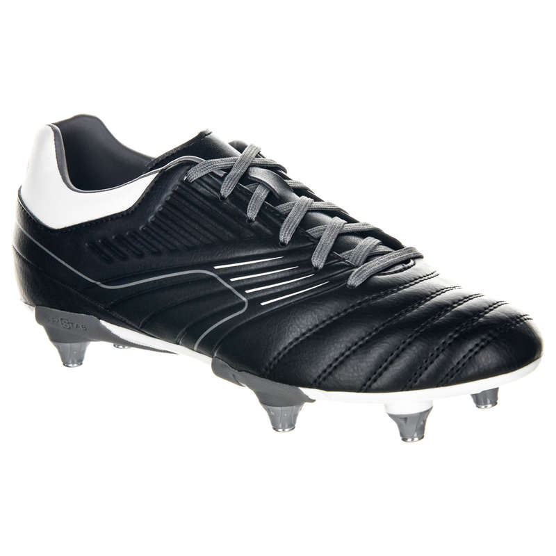 JUNIOR RUGBY BOOTS Rugby - Junior Agility R500 SG - Grey OFFLOAD - Rugby