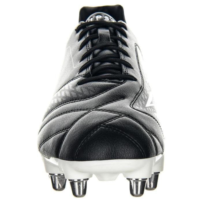 Chaussures de rugby terrain gras 8 crampons Density R100 SG noir
