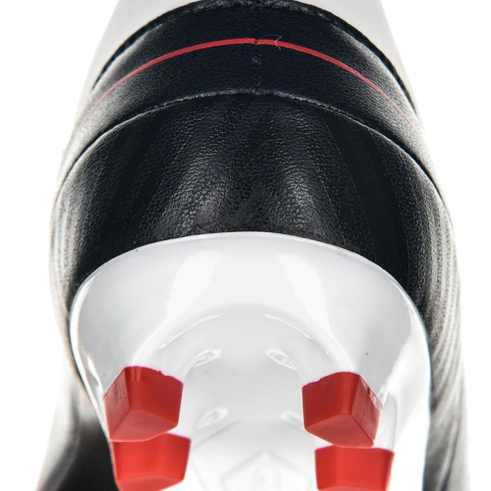 Chaussures de rugby junior skill R500 FG moulée rouge
