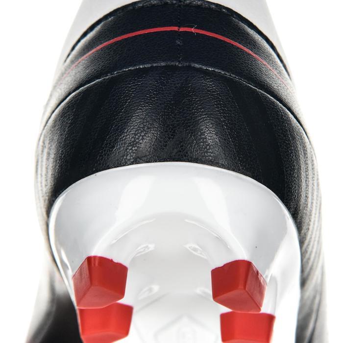 Crampons rugby enfant terrains secs Skill 500 FG noir rouge