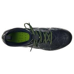 Chaussures rugby terrains gras 8 crampons Density R900 SG noir