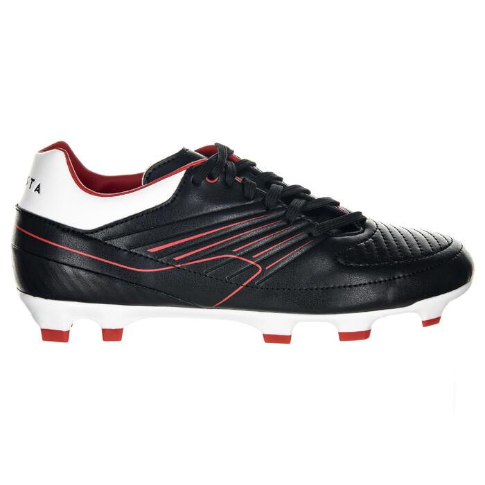 Botas de rugby júnior Skill R500 FG tacos fijos rojo