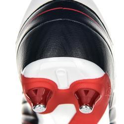 Chaussures de rugby enfant 6 crampons terrains gras Agility R500 SG rouge