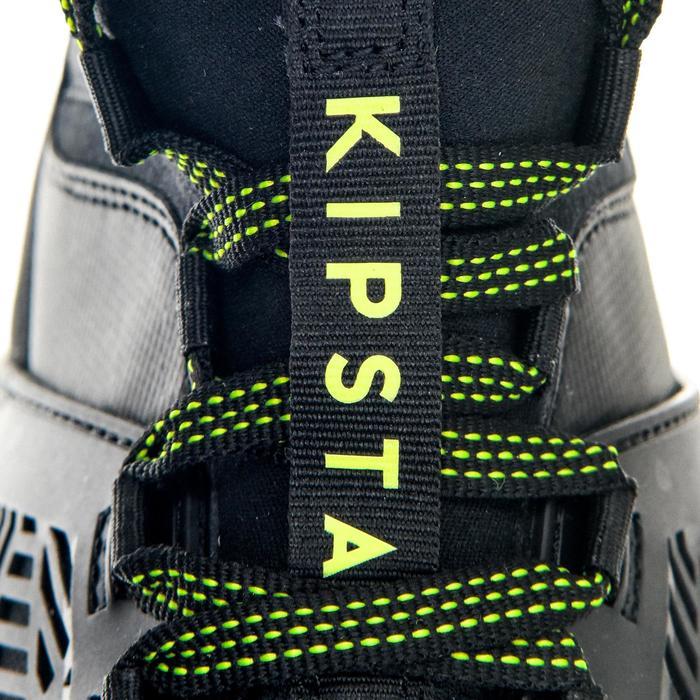 Rugbyschoenen voor volwassenen drassig terrein 8 noppen Density R900 SG zwart