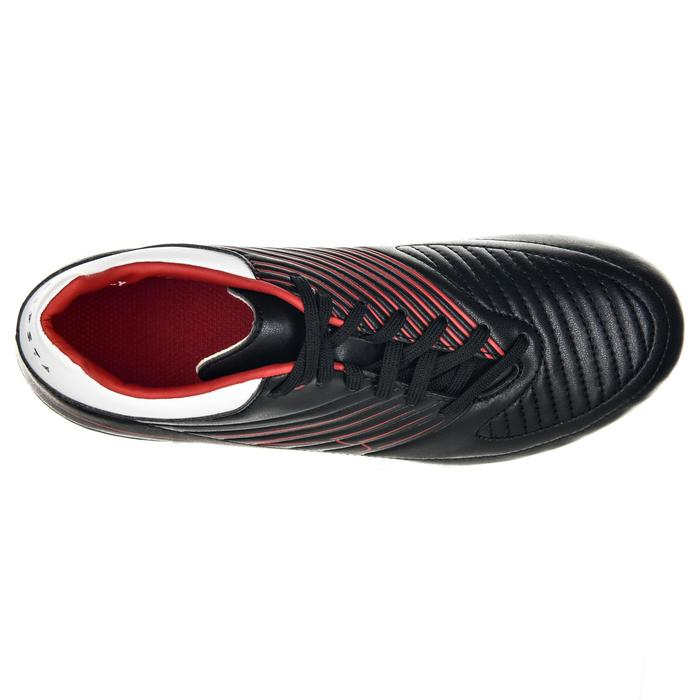 Chaussure de rugby junior skill R500 FG moulée rouge