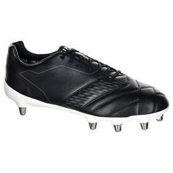 Rugbyschoenen voor volwassenen 8 noppen Density R100 SG zwart