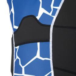 R100 Kids' Rugby Shoulder Pad - Turtle Blue