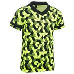Offload Rugbyshirt voor kinderen 100 geel/zwart