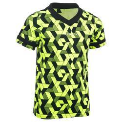 Camiseta de rugby 100 júnior amarillo negro