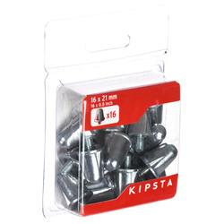 Aluminium rugbynoppen 21 mm