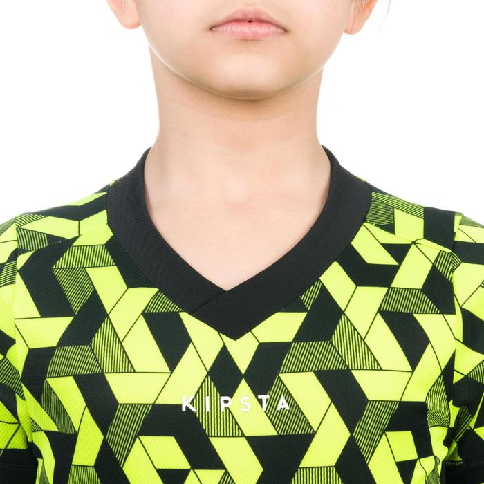 Rugbyshirt 100 kinderen geel zwart