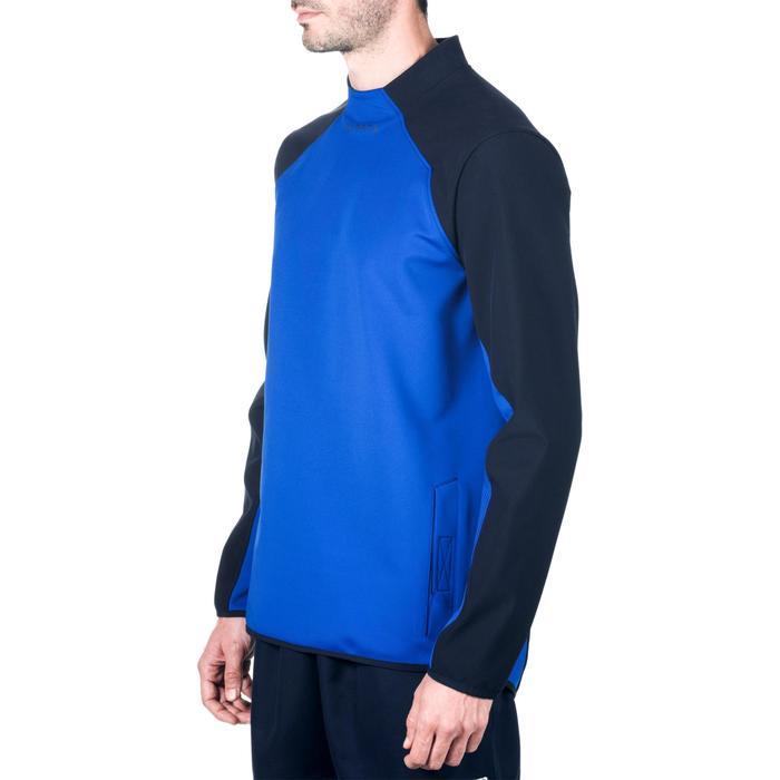 Sweatshirt Training Rugby R500 Erwachsene blau