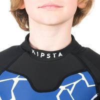 Hombrera rugby niños Full H 100 azul tortuga