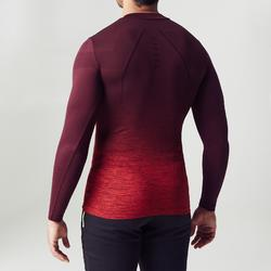 Thermoshirt Keepdry 500 met lange mouwen verlopend bordeaux