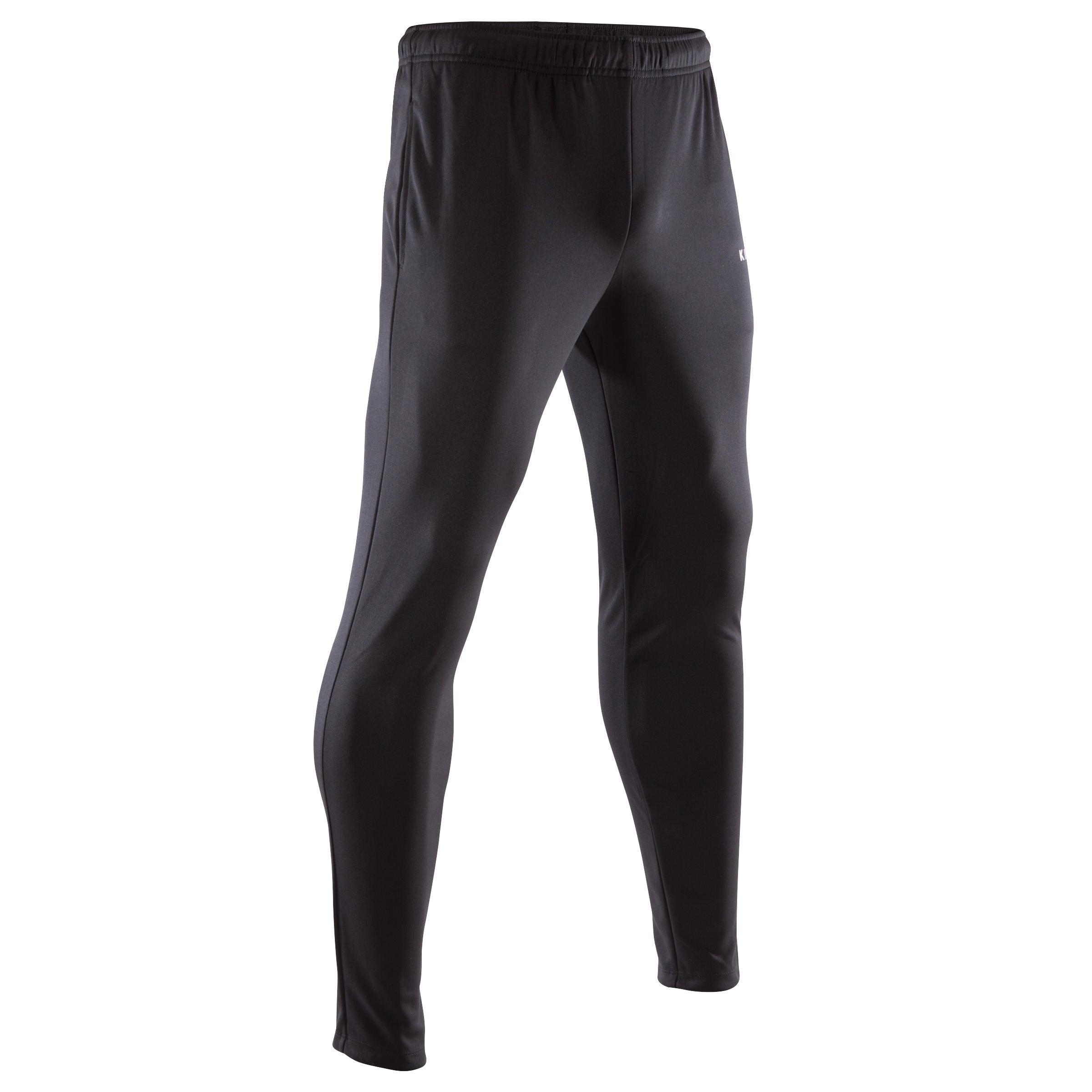 Pantalon d'entraînement de soccer adulte TP100 noir