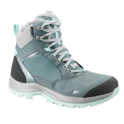 女款超保暖中筒雪地健行雪靴SH520-藍色