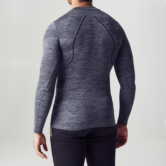 Camiseta térmica de fútbol de manga larga adulto Keepdry500 gris chiné oscuro