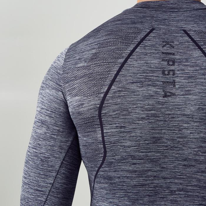 Thermoshirt Keepdry 500 met lange mouwen donkergrijs
