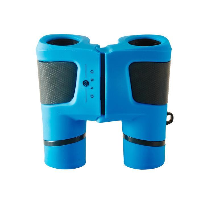 Jumelles randonnée enfant grossissement x6 sans réglage bleues - 148575