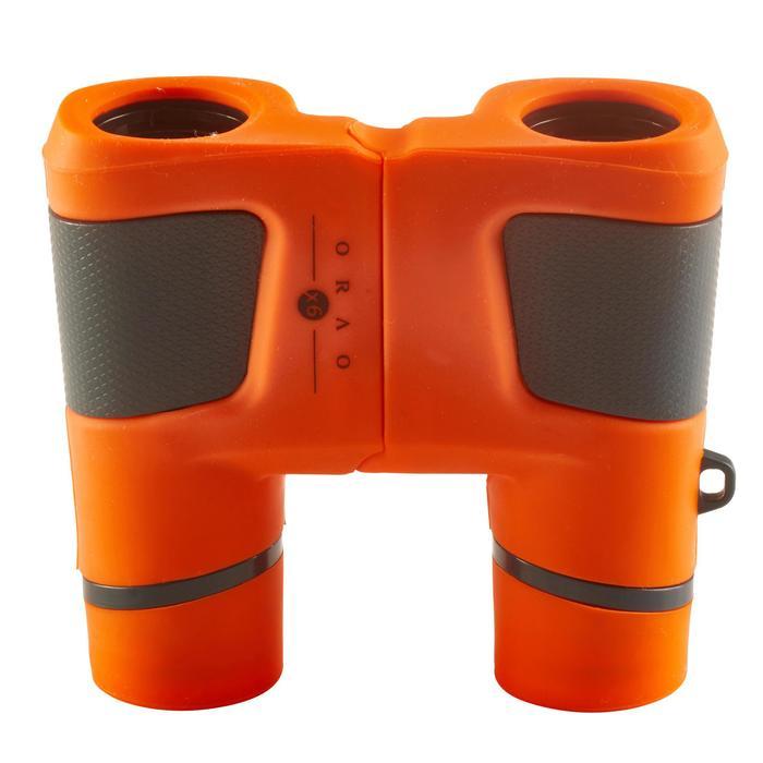 Jumelles randonnée enfant grossissement x6 sans réglage orange - 148594