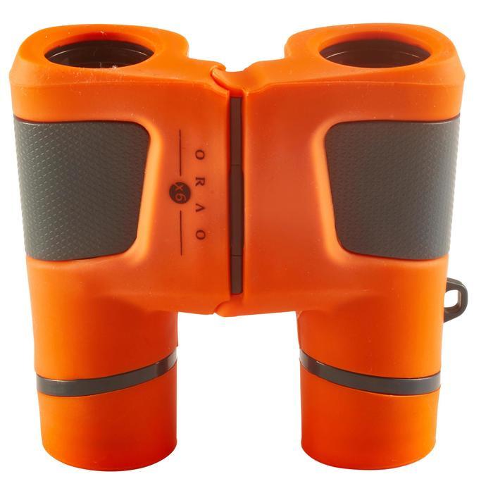 Jumelles randonnée enfant grossissement x6 sans réglage orange - 148597