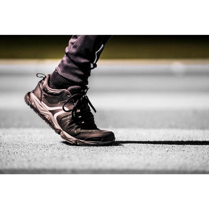Herensneakers voor sportief wandelen PW 940 Propulse Motion leer zwart