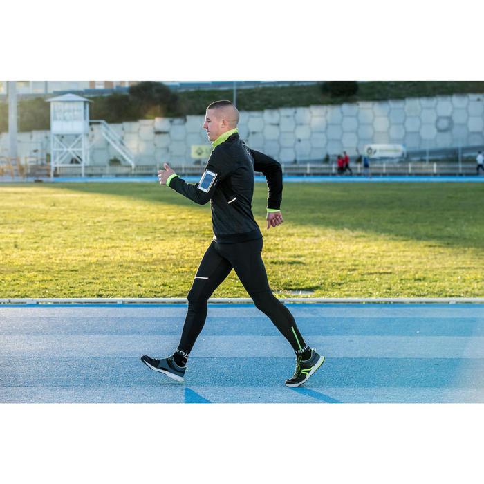 Walkingschuhe athletisches Gehen PW240 Herren schwarz/gelb