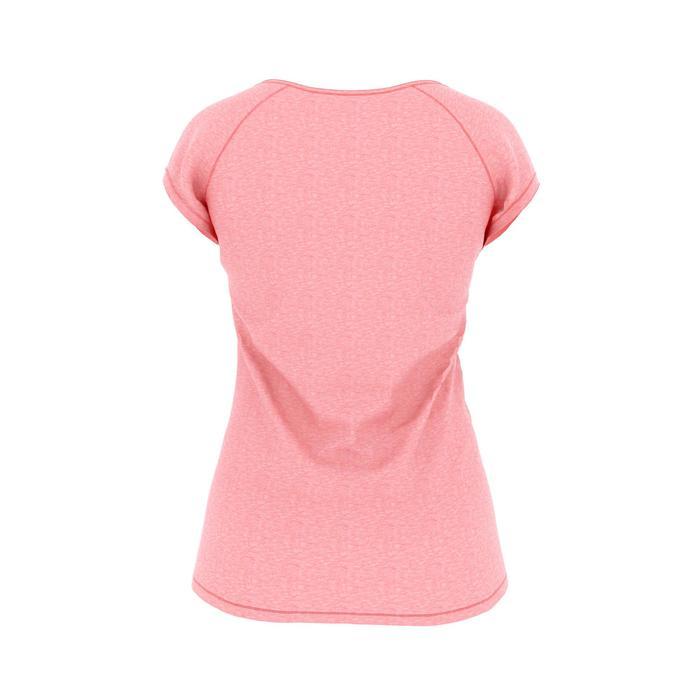 Dames T-shirt 500 voor gym en pilates roze