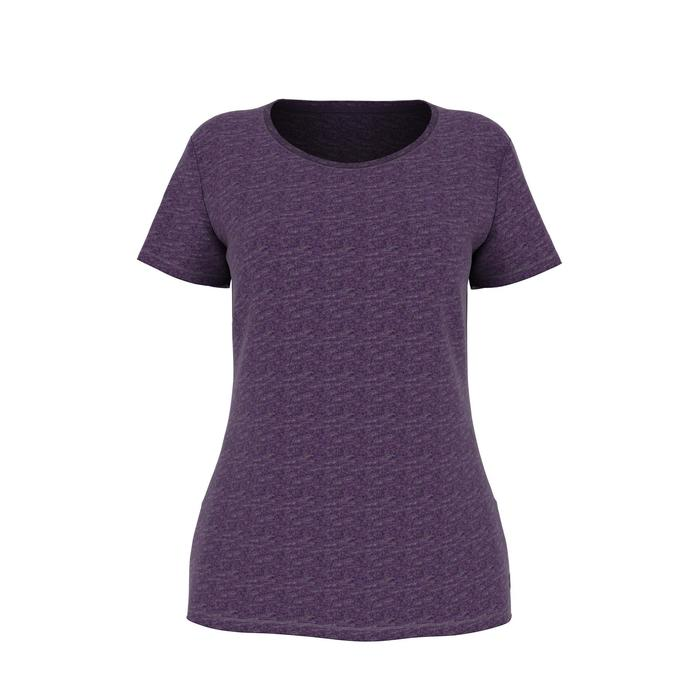 T-Shirt 500 régular manches courtes Gym & Pilates femme chiné - 1486164