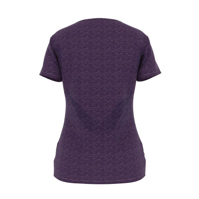 T-Shirt 500 Regular Gym Damen violett