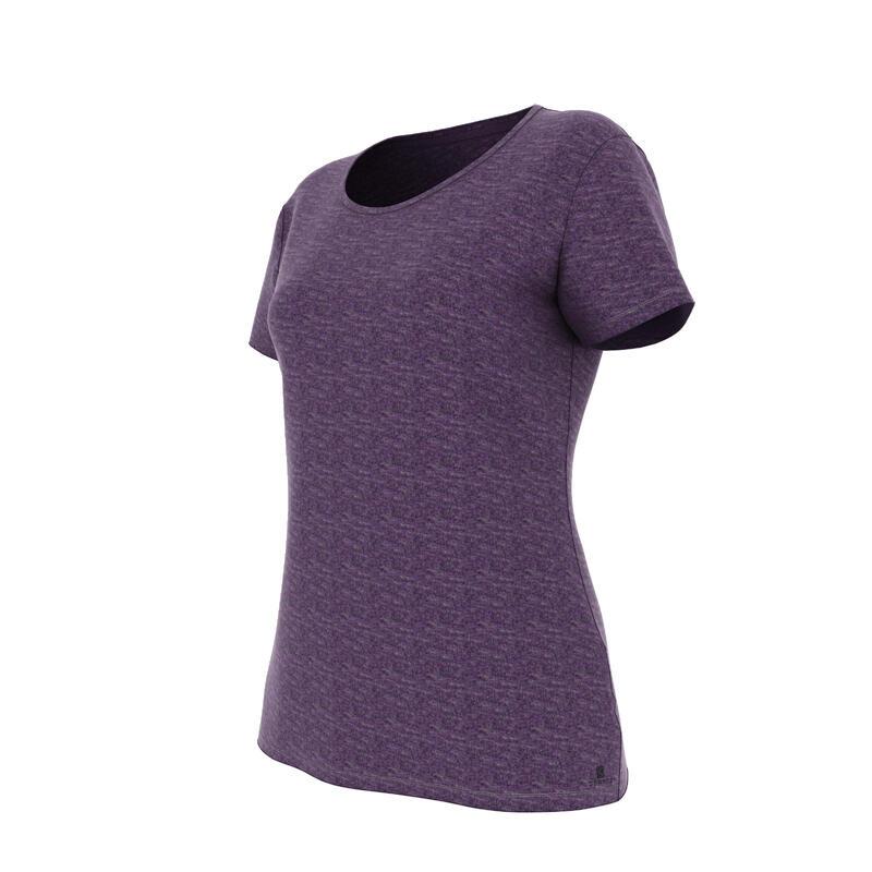 T-shirt 500 regular Gym & Pilates femme violet