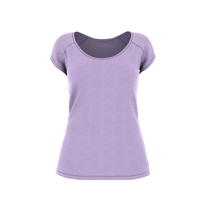 T-shirt 500 slim Gym & Pilates femme violet clair
