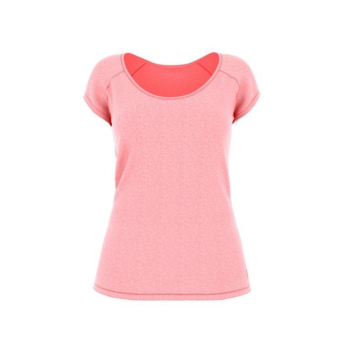 Camiseta 500 Slim gimnasia y pilates mujer rosa