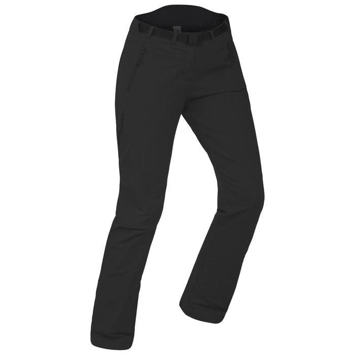 SH500 Women's x-warm stretch black snow hiking trousers - 1486205