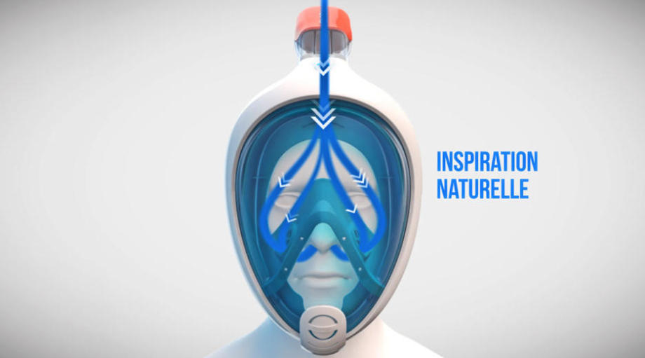 masque snorkeling easybreath inspiration naturelle subea