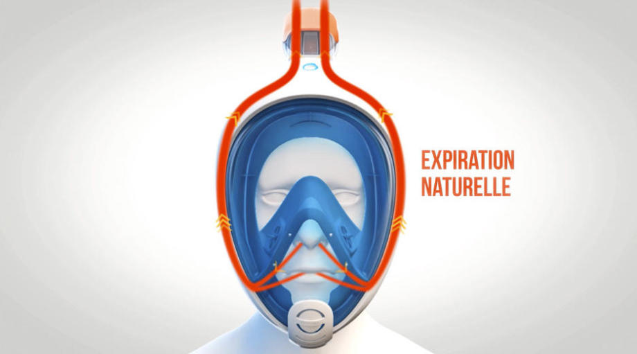 masque snorkeling easybreath subea expiration naturelle