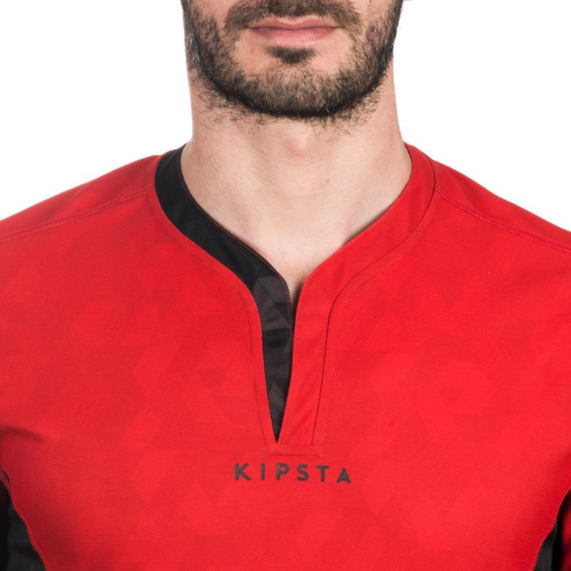 เสื้อรักบี้ใส่ได้สองด้านสำหรับผู้ใหญ่รุ่น R500 (สีดำ/แดง)