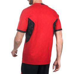 Camiseta Rugby Reversible Offload R500 hombre negro y rojo