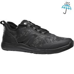 Waterdichte damessneakers voor sportief wandelen PW 580 plasma zwart