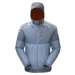 SH100 X-Warm Men's Snow Hiking Jacket - Light grey