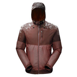 SH100男款冬季健行防雪保暖外套X-WARM-棕色
