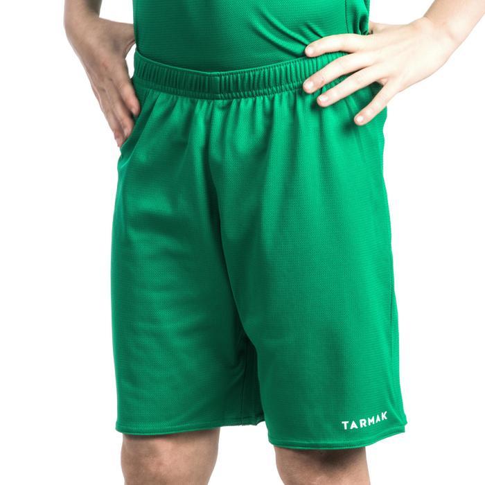 Basketbalshort B300 beginners jongens/meisjes groen