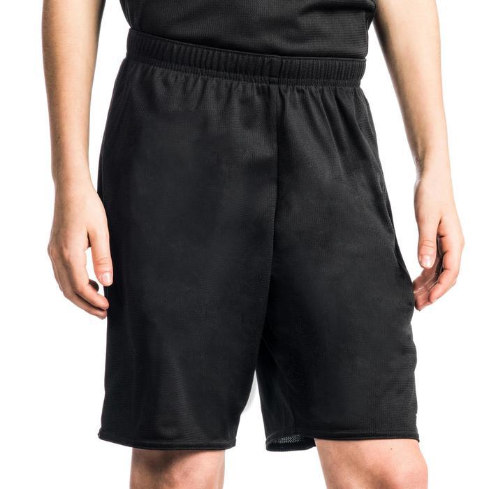 SHORT B300 DE BASKETBALL GARCON/FILLE POUR DEBUTANT NOIR