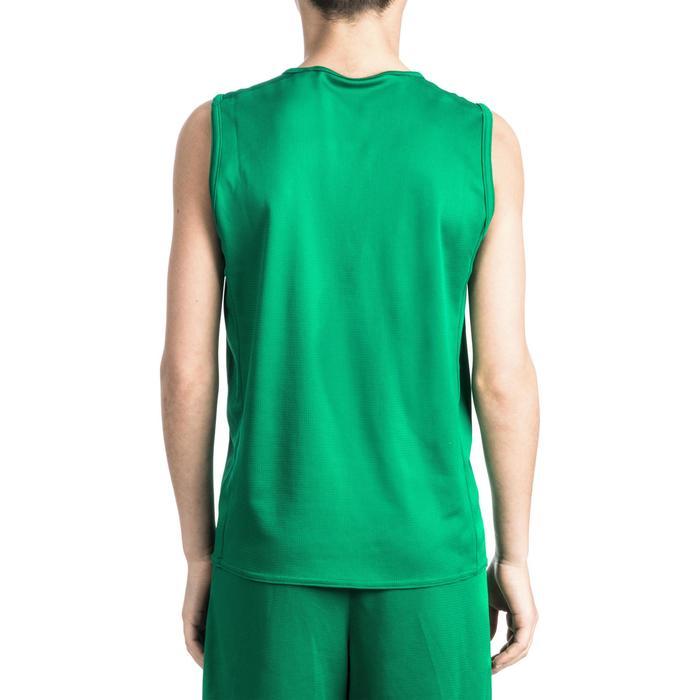 Basketbalshirt T100 voor beginnende jongens en meisjes groen T100