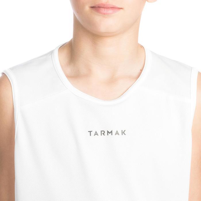 TANK DEBARDEUR T100 DE BASKETBALL GARCON/FILLE POUR DEBUTANT BLANC