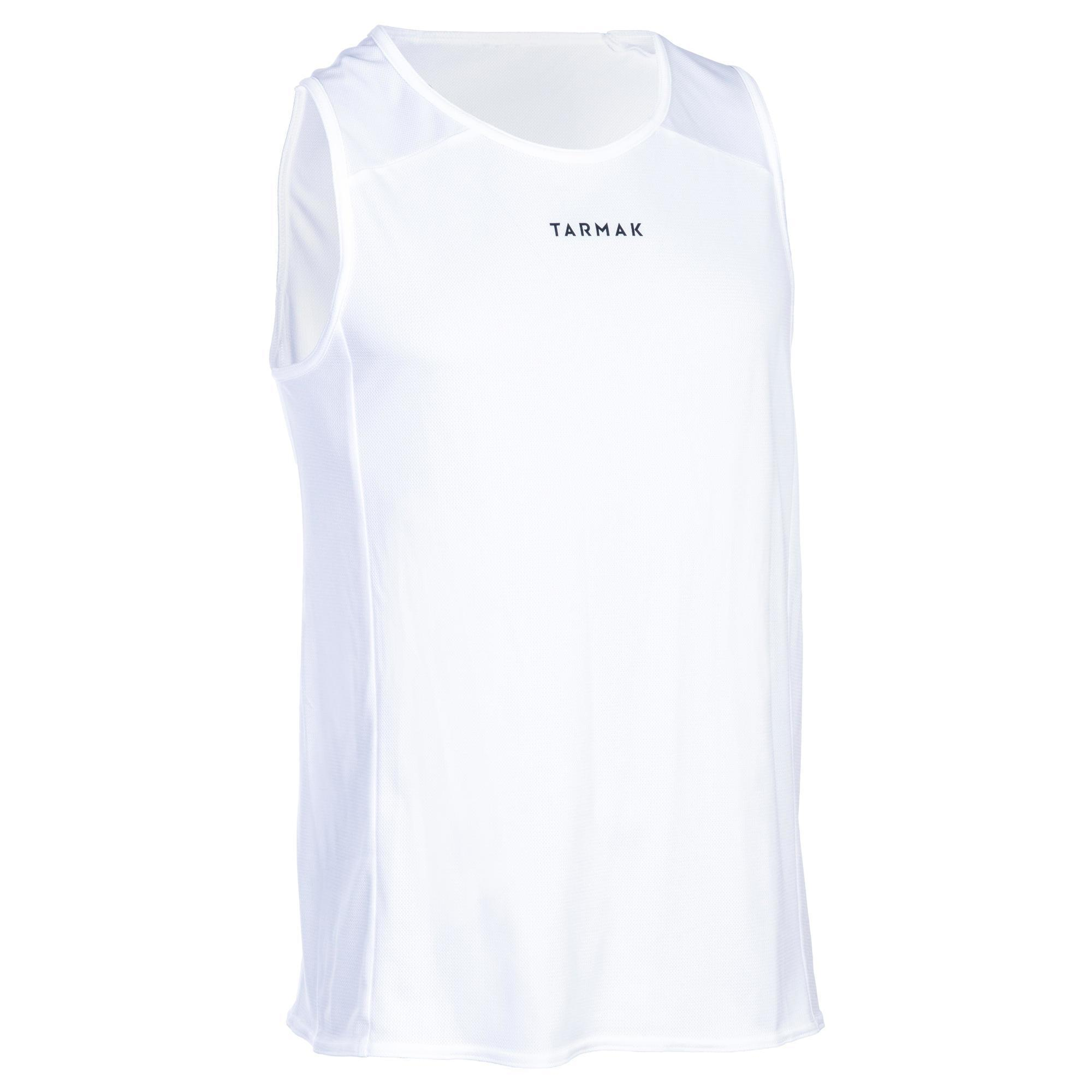 Tarmak Basketbalshirt T100 wit (heren)