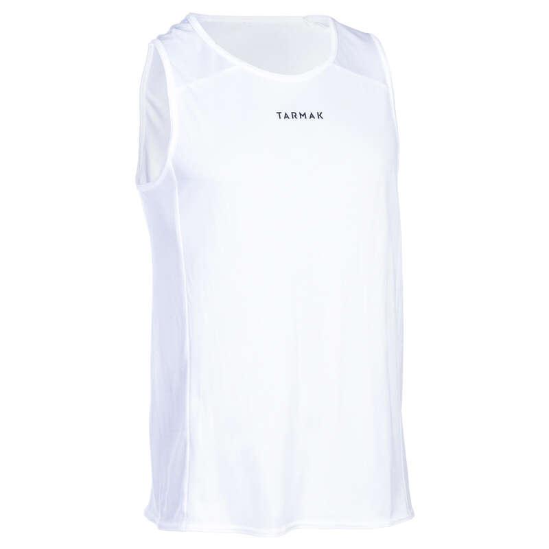 ODZIEŻ DO KOSZYKÓWKI DOROŚLI Koszykówka - Koszulka bez rękawów T100 biał TARMAK - Odzież do koszykówki