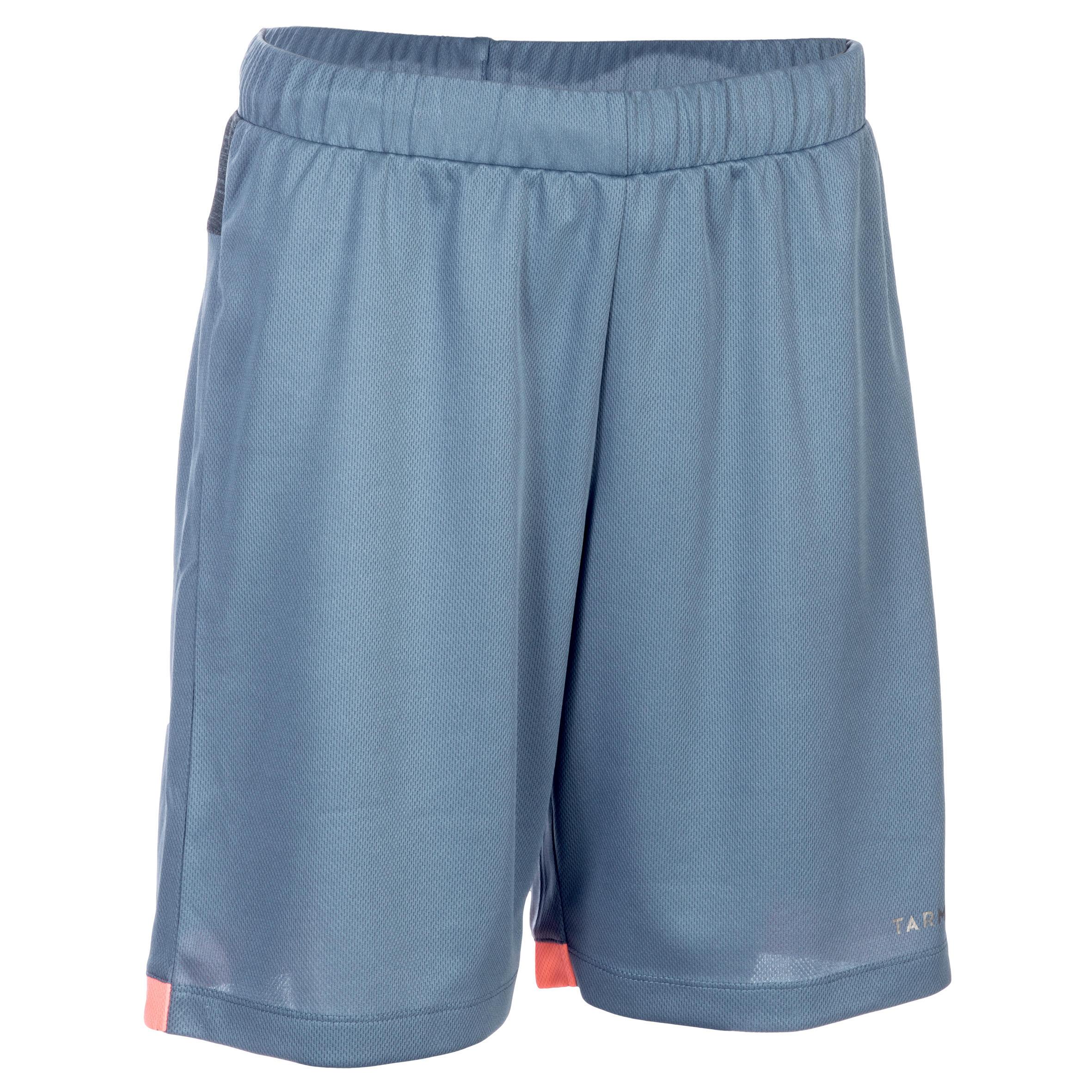 Basketballshorts SH500 Damen Fortgeschrittene grau/rosa   Sportbekleidung > Sporthosen > Basketballshorts   Grau - Blau - Rot - Rosa   Tarmak
